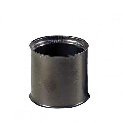 Kamino Flam Wandfutter doppelt in Silber, für Senotherm beschichtete Ofenrohre 2 mm, Doppelwandfutter aus feueraluminiertem Stahl, geprüft nach Norm EN 1856-2, Durchmesser: ca. 130 mm