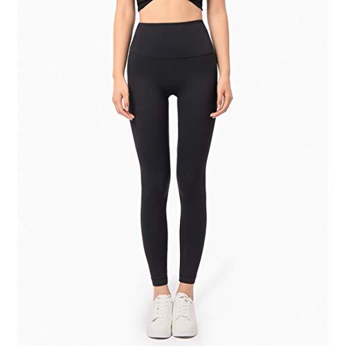 Hanks' Shop Sport-Hosen, Yoga-Hosen, Fitness Hosen, Keine Peinlichkeit Feste Hosen, Fan Schwanz Blatt Peach Hip High Waist Nude (Color : Black, Size : M)