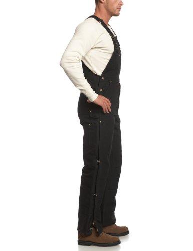Carhartt Men's Quilt Lined Zip To Thigh Bib Overalls,Black,46 x 30