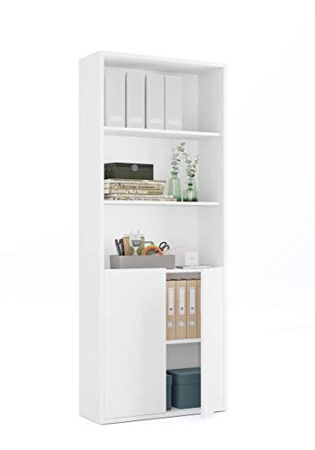 Muebles Pitarch 1092 Estantería, Blanco, 196.5 x 75.5 x 33 cm
