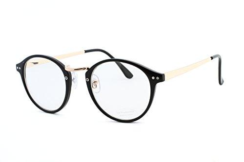 フィールライフアイウェア FEEL LIFE EYE WEAR ボストン型ダテメガネ UVカット ケース付き トレンド シンプル FI5336A-1