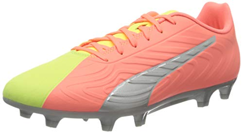 PUMA Men's ONE 20.4 OSG FG Football Boots, Nrgy Peach Fizzy Yellow Aged Silver, 10