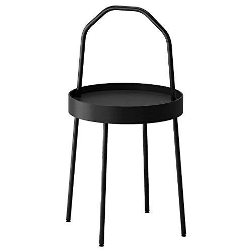 My- Stylo Collection Stolik boczny, czarny, odporny na plamy, samoregulujący, rozmiar produktu: Wysokość z uchwytem: 78 cm Wysokość: 45 cm Średnica: 38 cm