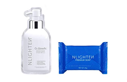 Nworld Nlighten Premium Collagen Soap & O2 Glowing Serum Mask- Hydrating & Anti-Aging