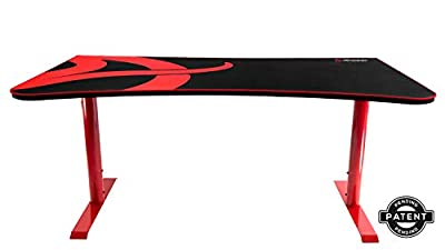 Arozzi Arena Gaming Desk, Metal, 160x80x80 cm - Red
