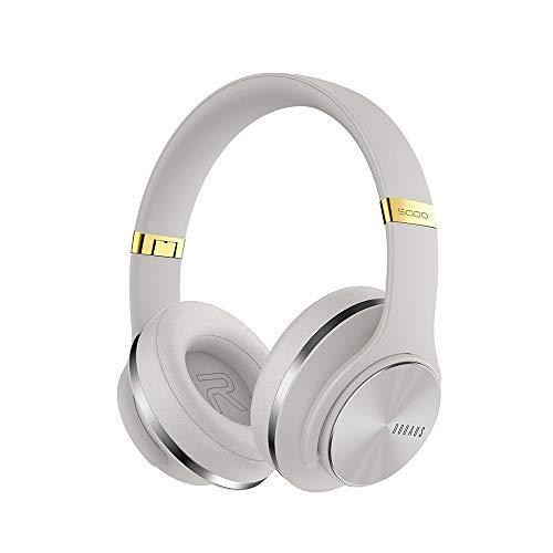 Docooler SODO V5 Draadloze Hoofdtelefoon 2 in1 BT 5.0 Speaker Hoofdtelefoon EQ Mode met Microfoon Over Ear Sport Headset voor PC & Mobiele Telefoon, Grijs