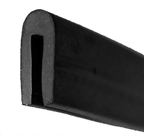 EUTRAS Fassungsprofil FP3001 Kantenschutz Dichtungsgummi – Spaltmaß 1,5 mm – schwarz – 5 m