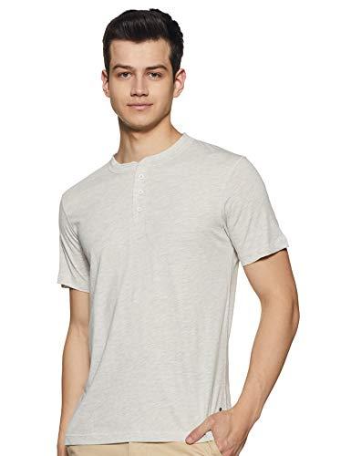 Levi's Men's Plain Regular fit T-Shirt (PR687013_Ecru Melange Large)