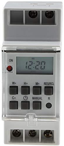 Digitale Zeitschaltuhr für Hutschiene Einbau in Schalttafel 230V / 16A Zeitschalter Timer für Schaltkasten LC-Display Tag- & Wochenzeitschaltuhr