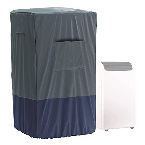 Moslate Cubierta Protectora para Aire Acondicionado, 46 x 38 x 75 cm Cubierta portátil para Aire Acondicionado con cordón, Cubierta Antipolvo y Resistente al Agua para Unidad de Aire Acondicionado