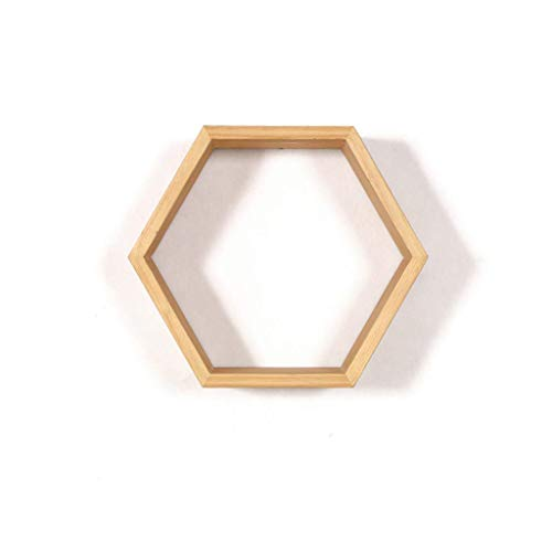 LQH Estantería Quiosco Hexagonal Almacenamiento de Pared Decorativo Estante Creativo Sencillo Colgante de Pared de Dormitorio Multifuncional