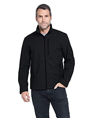 Weatherproof Men's Midweight Water and Wind Resistant Soft Shell Jacket Black (S-3XL)