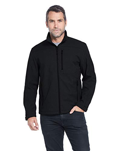 Weatherproof Men's Midweight Water and Wind Resistant Soft Shell Jacket Black (M)