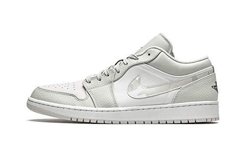 Nike Hombres Air Jordan 1 Bajo Blanco Camo - DC9036 100 - Blanco Photon Dust Gris Fog, color, talla 44 EU