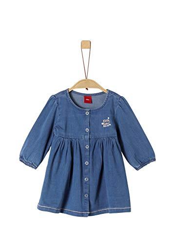 s.Oliver RED LABEL Unisex - Baby Leichtes Jeanskleid mit Druckknöpfen blue denim 74