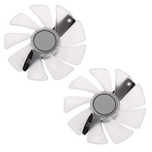 LINhuahua 2Pcs 95mm CF1015H12D 4pin Video Card Fan Replacement for Sapphire NITRO RX480 8G RX 470 4G GDDR5 RX570 4G / 8G D5 RX580 8G OC