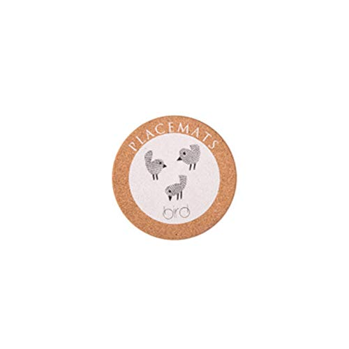 Mesa de comedor de madera Placemats Pot Cup Mat Aislamiento de calor Aislamiento de calefacción Accesorios de cocina Decoración de mesa Mesa de mesa Posavasos Coloque el paño (Color : Bird)