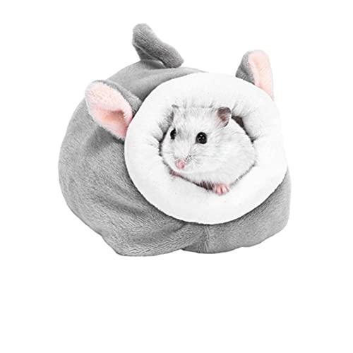 Srliya Nido de jaula para cama de animales, linda cama de conejo de hámster, accesorios, mini cueva de nido de mascota de algodón (5 estilos)