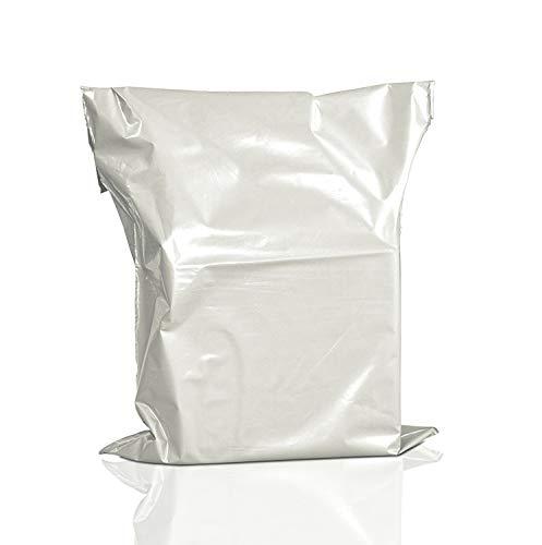 Vitt postpaket förpackning kurir porto väska plast post självhäftande polypåsar 17X22 tum 50 st
