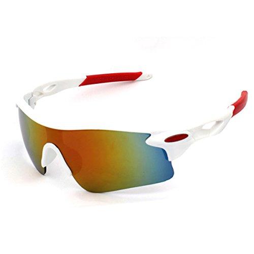 jiele Gafas de Sol Deportivas,Gafas De Sol Polarizadas para Ciclismo, para esquí de conducción Golf Running Ciclismo Bicicleta Conducir, Hombres Mujeres polarizado Gafas