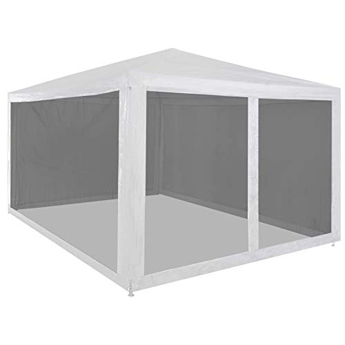 GOTOTOP 4x3m Pop-up Canopy Tent Heavy Duty Gazebo Pavilion Outdoor Party with 4 Mesh Sidewalls Powder-coated Steel, Perfect for Garden, Patio, Barbecue Parties, 4 x 3 x 2.55 m