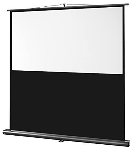 celexon mobile Beamer-Stativ Leinwand Ultramobil Professional für Schule, Präsentation oder Büro mit Teleskopstange - 120 x 75 cm - 16:10 - Gain 1,0