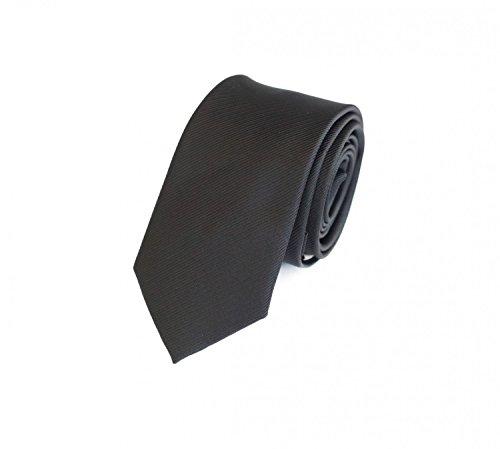 Fabio Farini Étroit Cravate de en noir 6cm Largeur