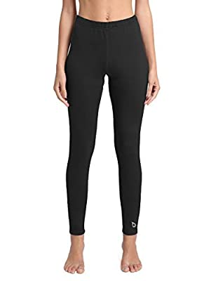 BALEAF Women's Heavy Weight Thermal Leggings Tights Fleece Lined Winter Base Layer Underwear Black Size L