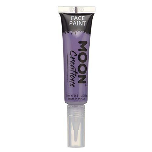 Peinture pour Le Visage et Le Corps avec Un Pinceau de Moon Creations - 15ml - Violet