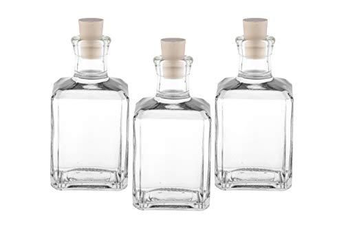 casavetro Bottigliette Vetro con Tappo Sughero - 250 ml - Bottiglia Vuota in Vetro per Vino, Liquore, Acqua, Succo di Frutta, Conserve, Latte, Olio, Birra, Vino, Estratti, Amari (10 x 250 ml)