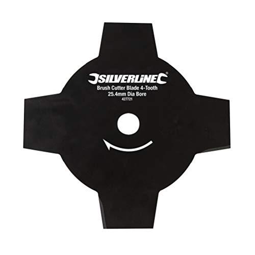Silverline Tools 427721 - Disco para desbrozadora de 4 dientes (Agujero Ø25,4 mm)