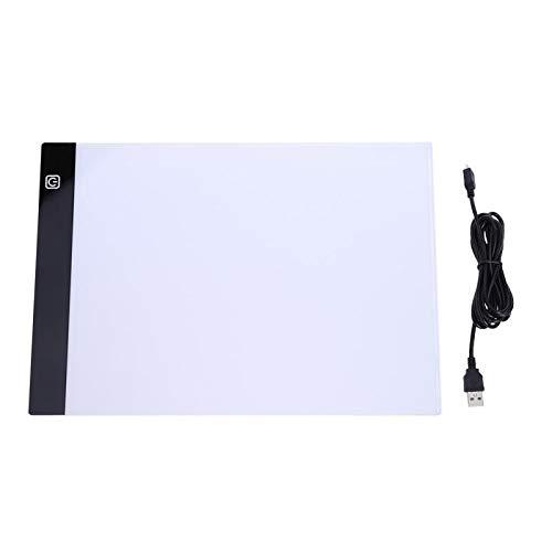 Beste kwaliteit - dit product is bestemd voor thuis - A5 LED Light Trading Pad artcraft Light Box Copy board grote grootte painting writing tablet voor het verven van sketching - by Stephanie - 1 PC Spain - Third Gear dimming