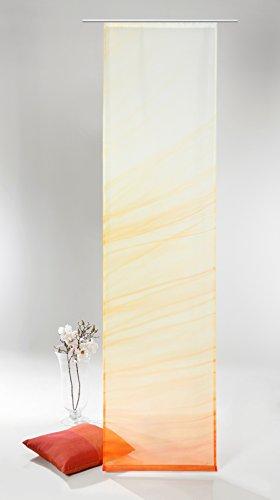 heimtexland ® Flächenvorhang mit hochwertigem Fotodruck HxB 245x60 cm inkl. Zubehör - Schiebevorhang Makroaufnahme Blume im Sonnenaufgang Schiebegardine Typ408