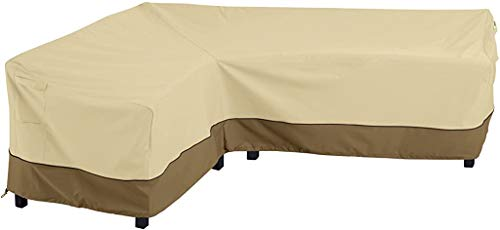 Classic Accessories 55-881-011501-RT Veranda Water-Resistant 104 Inch Patio Left-Facing Sectional Lounge Set Cover,Large