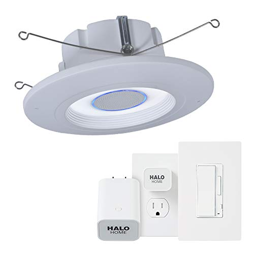 Halo RL56HVAHIWAC 5/6 Inch with Tunable CCT 2700-5000K Smart Recessed White Trim with Accessory and Bridge Kit Alexa Voice Integrated Retrofit LED