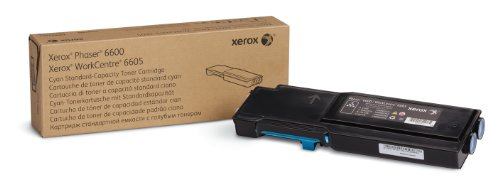 Xerox Phaser 6600/ WorkCentre 6605 Cyan Standard Capacity Toner Cartridge (2,000 Pages) - 106R02241