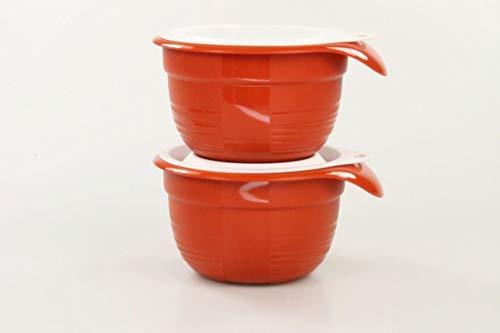 Tupperware 31204 Combiplus Lot de 2 petits bols mélangeurs avec couvercle, 650 ml, couleur terre cuite