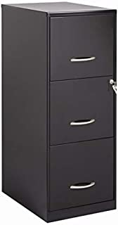Bowery Hill 3 Drawer Letter File Cabinet in Black