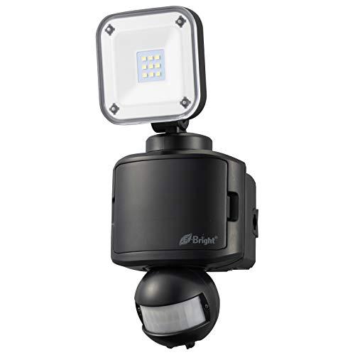 オーム電機 LEDセンサーライト(1灯/400lm/昼光色/乾電池式:単2×3本別売/ブラック) LS-B145A19-K (約)幅106×高さ248×奥行122mm