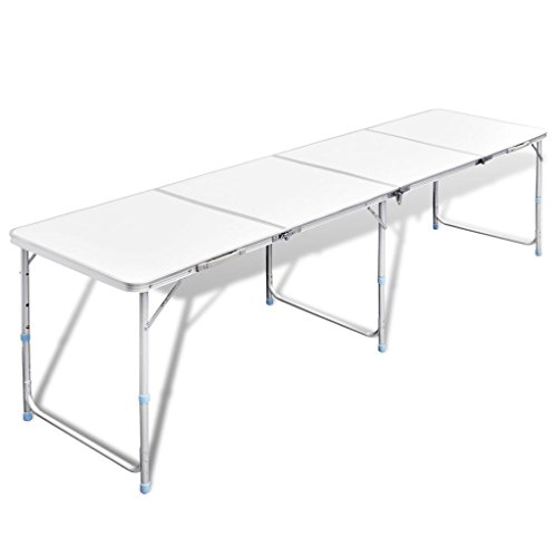vidaXL Koffertisch Alu 240x60 cm Campingtisch Klapptisch Gartentisch Falttisch