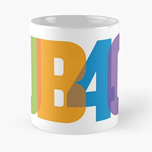 Ub40 - Taza de café de cerámica de mármol blanco de 11oz