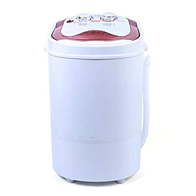 ROMYIX 6KG Mini Portable Washing Machine, Dehydration Washing Machine, Fully Automatic Single-Tub Washing Machine