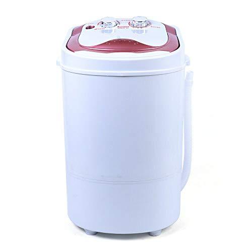 Mini Waschmaschine mit Schleuder | Waschautomat bis 6KG | Reisewaschmaschine | Miniwaschmaschine | Camping Mobile Waschmaschine | Toploader | 1 Kammer (Rosa)