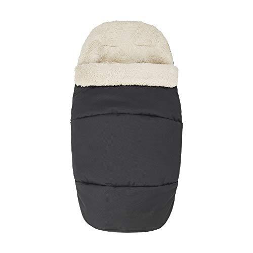 Maxi-Cosi Saco silla paseo invierno, saco cochecito bebé universal, forro polar interior protege al bebé del frío, del viento y de la lluvia, color essential black