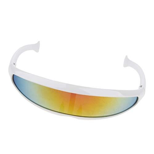 Bonarty Gafas de Sol con Espejo Anti-UV Vintage Sombras Gafas de Montura de Plástico Gafas - #1, como se describe