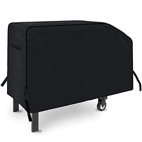 NEXCOVER 28 inch Griddle Cover - Waterproof Heavy Duty Gas Grill Cover, 600D Polyester Anti-UV Canvas Flat Top BBQ Cover, for Blackstone 28 Inch 2 Burner Griddle Cooking Station with Support Pole.