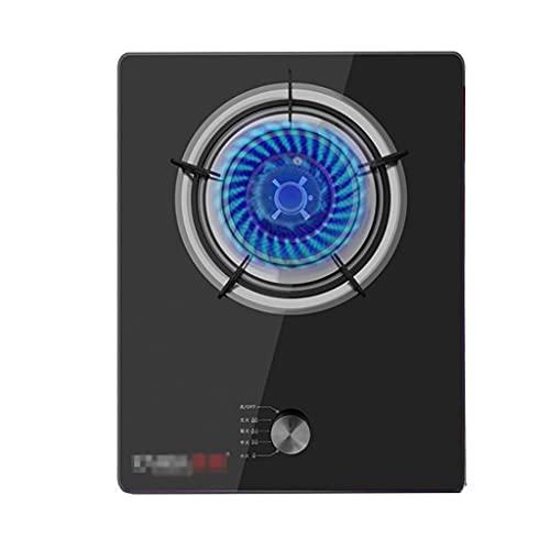 YXYY Estufa de Gas incorporada de 43 cm, 1 Quemador Estufa de Gas de Vidrio Negro, 4.5KW, para Calentar, cocinar, hervir, freír, hervir a Fuego Lento [Clase energética A] (Color: GLP)