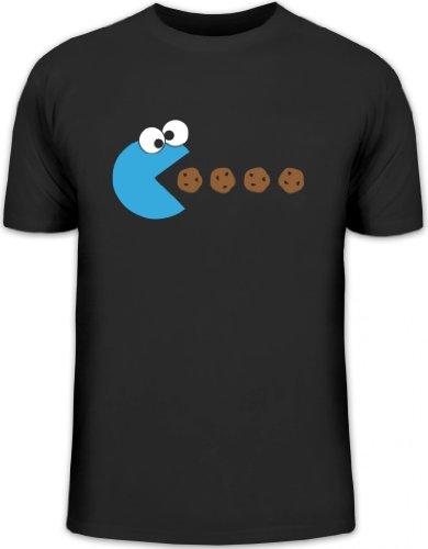 Shirtstreet24, Blue Monster, Herren T-Shirt Fun Shirt Funshirt, Größe: 3XL,schwarz