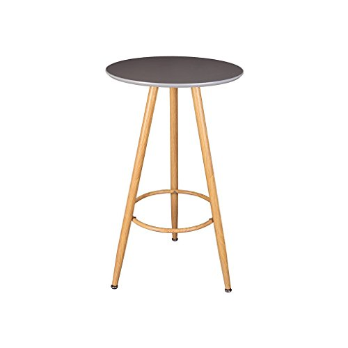 Zons Table Haute Bar D60cm, H 103cm Gris