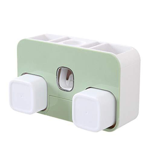 LDDLDG Sterilisator voor mobiele telefoon tandpasta houder aan de muur bevestigde tandpasta knijper set USB Powered - afneembare witte elektrische